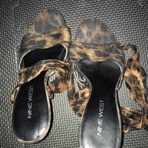 Excellent condition cheetah print heel shoes
